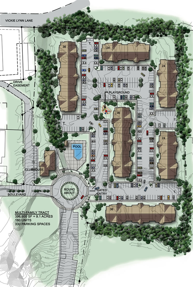 Liberty park apartments fort leonard wood apartments st for Apartment site plan